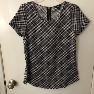 Express Tops - Plaid shirt sleeve top from express , size small